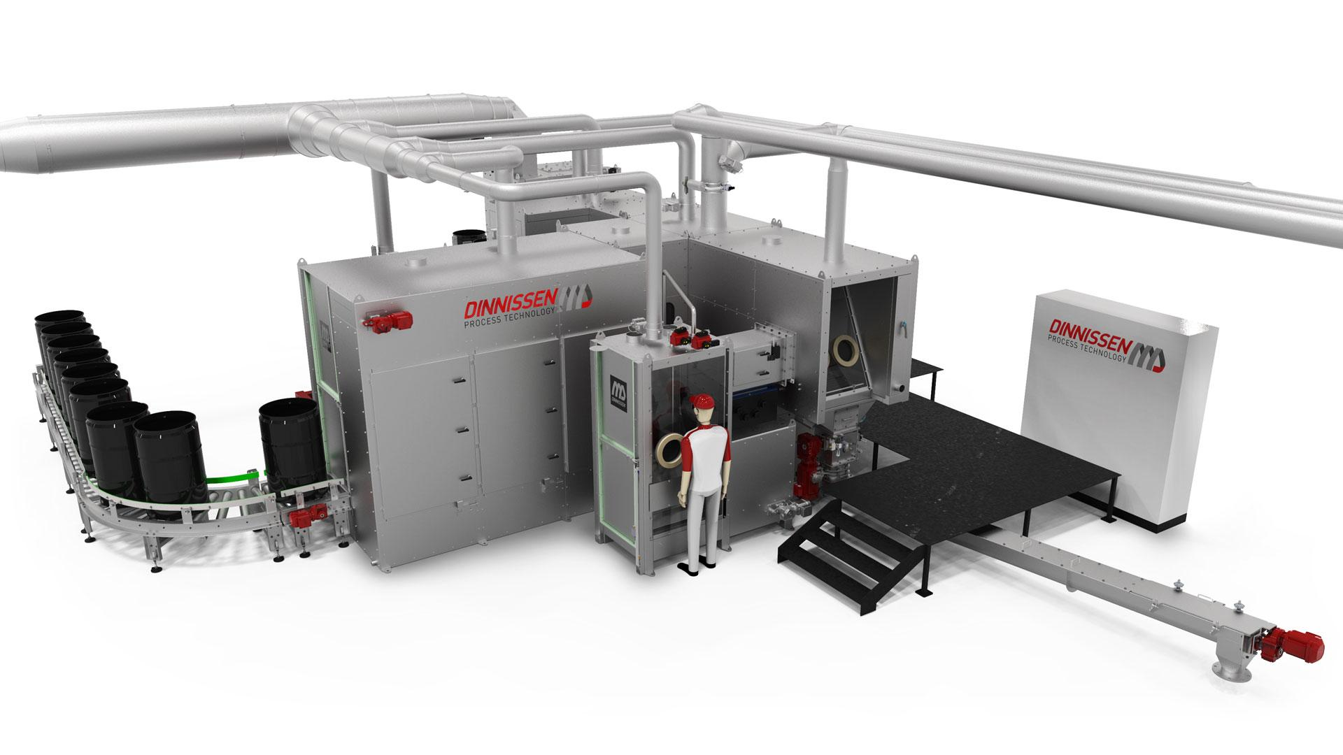 System Integration Chemicals Automatics barrel emptying