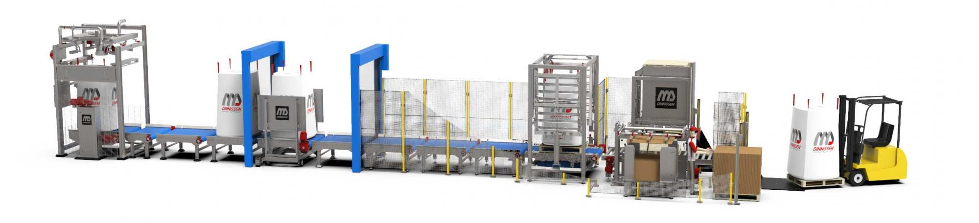 High-Care big-bag filling and palletizing